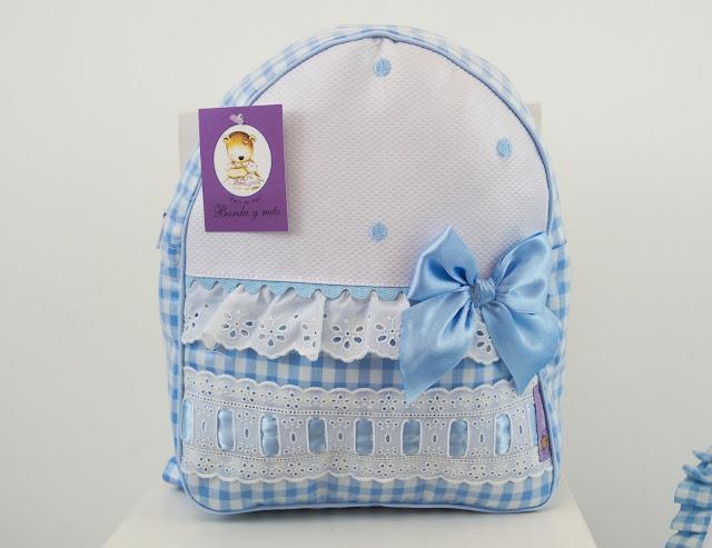 mochila lencera azul bebe
