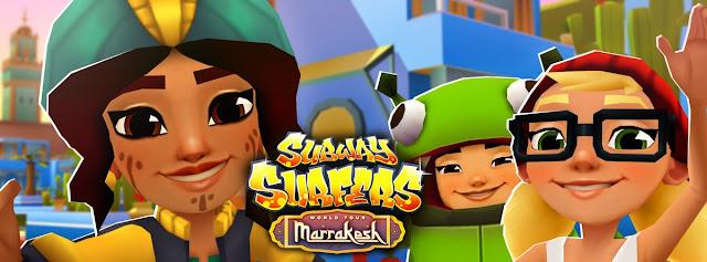 baixe agora atualizado o subway surfers marrakesh com hacker da versão 1.95.2 dinheiro e chaves ilimitados