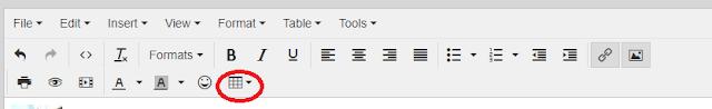 Mostrando ícone de tabela