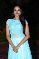 Pujita Ponnada in transparent sky blue dress at Darshakudu pre release ~  Exclusive Celebrities Galleries 113.JPG