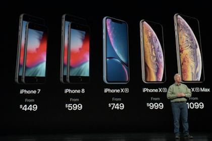 Perbandingan Spesifikasi dan Harga iPhone X Seri XS, XR,  dan XS Max