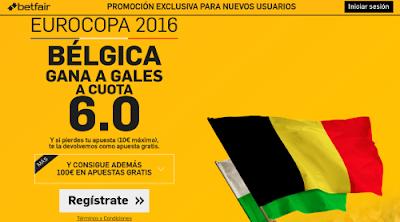 betfair Belgica gana Gales supercuota 6 Eurocopa 2016 1 julio