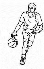 menggiring bola basket dribble