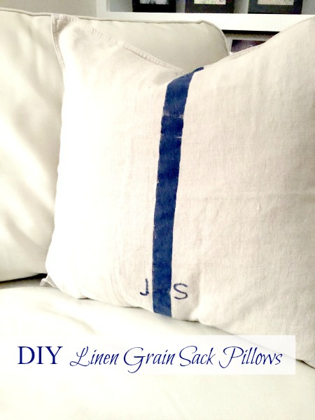 How to DIY Grain Sack Pillow Covers www.homeroad.net