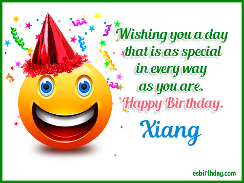 Xiang Happy Birthday