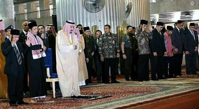 Shalat Raja Salman Melenceng Dari Ajaran Wahabi Indonesia