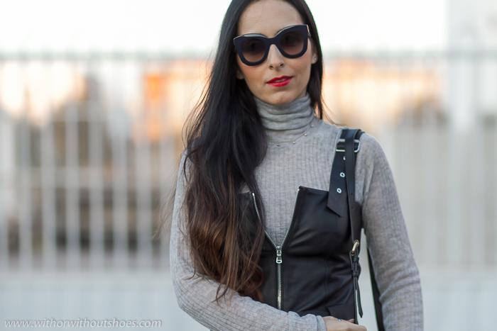 FridayMono Marta Con Gafas Sol Look Céline Cuero De Black 4LAj5R