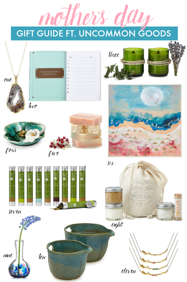 Unique Mother's Day picks for your favorite lady- from tea to candles to jewelry & bath products!