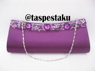 Tas Pesta Tas Mewah Ungu Purple