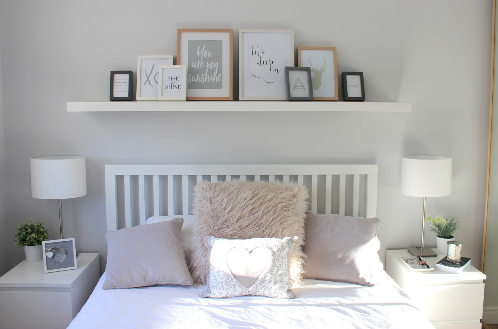 Home bedroom tour maisy meow for Ikea grey bedroom furniture