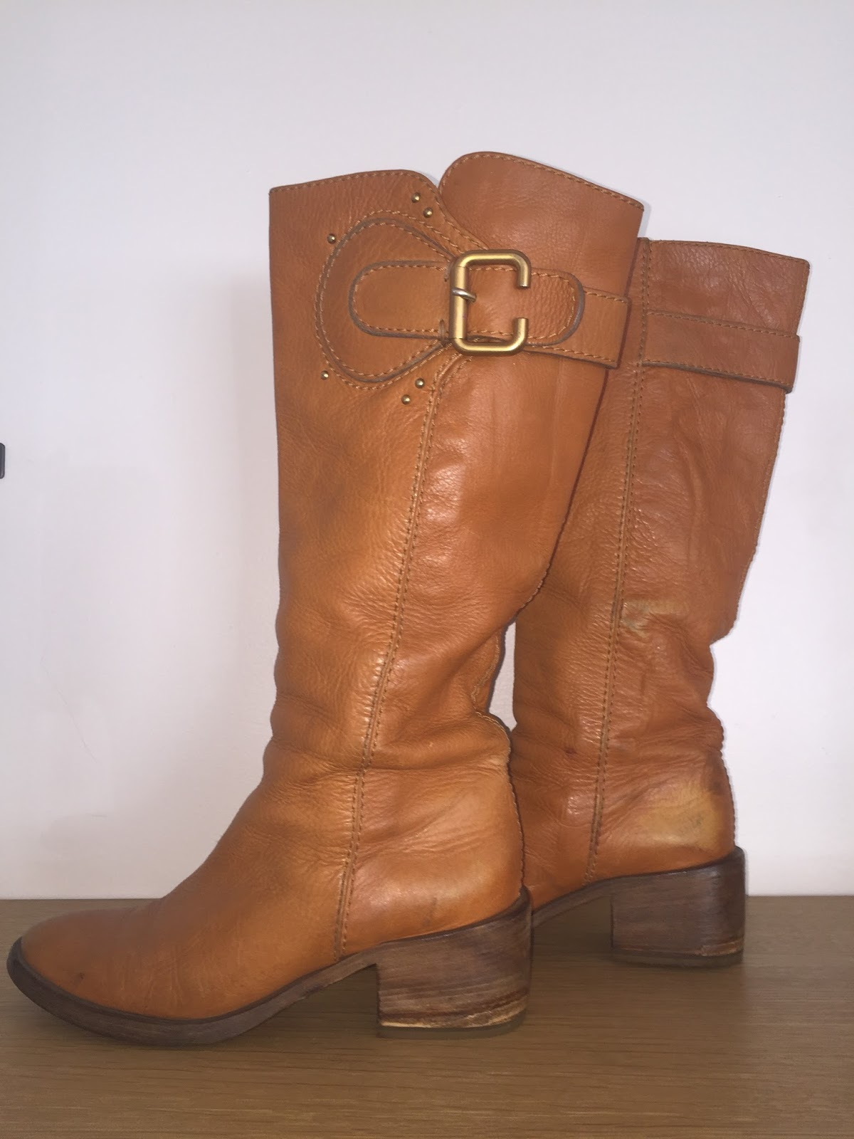 laws of general economy chloe paddington honey leather boots orig 1150. Black Bedroom Furniture Sets. Home Design Ideas