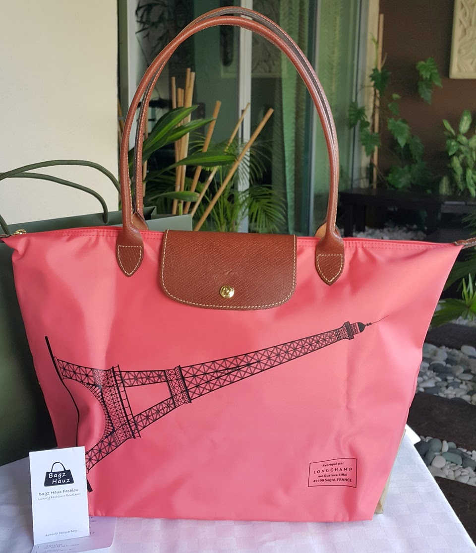 cc5e041bb826 LONGCHAMP Le Pliage Eiffel Tower 31cm LH - Color  Rose Pink ~ For Suzie  (Brunei) ~