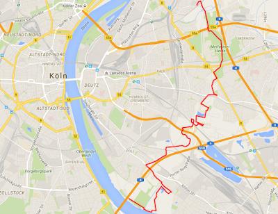 Karte mit eingezeichneter Wegführung