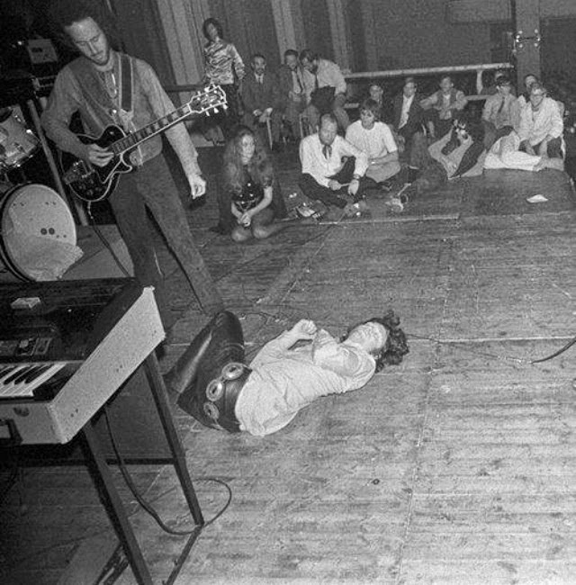Jim Morrison on stage at the 27 Club.