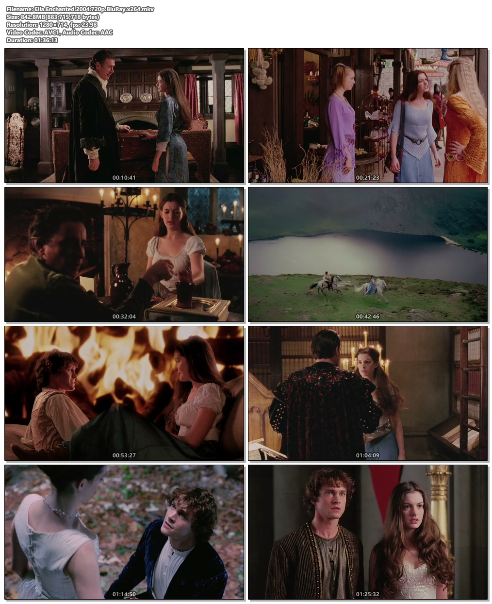 Ella Enchanted 2004 720p BluRay x264 | 480p 300MB | 100MB HEVC Screenshot
