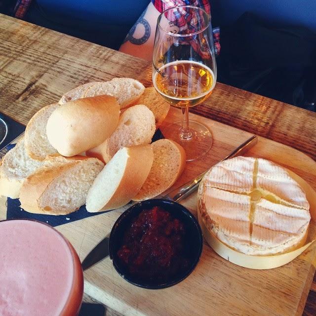 Baked camembert at Brewdog Aberdeen