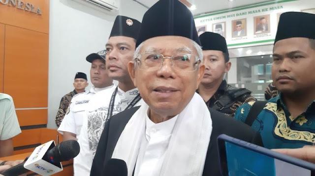 Ma'ruf Amin Sesalkan Kubu Prabowo Paparkan Kecurangan Pemilu ke Publik