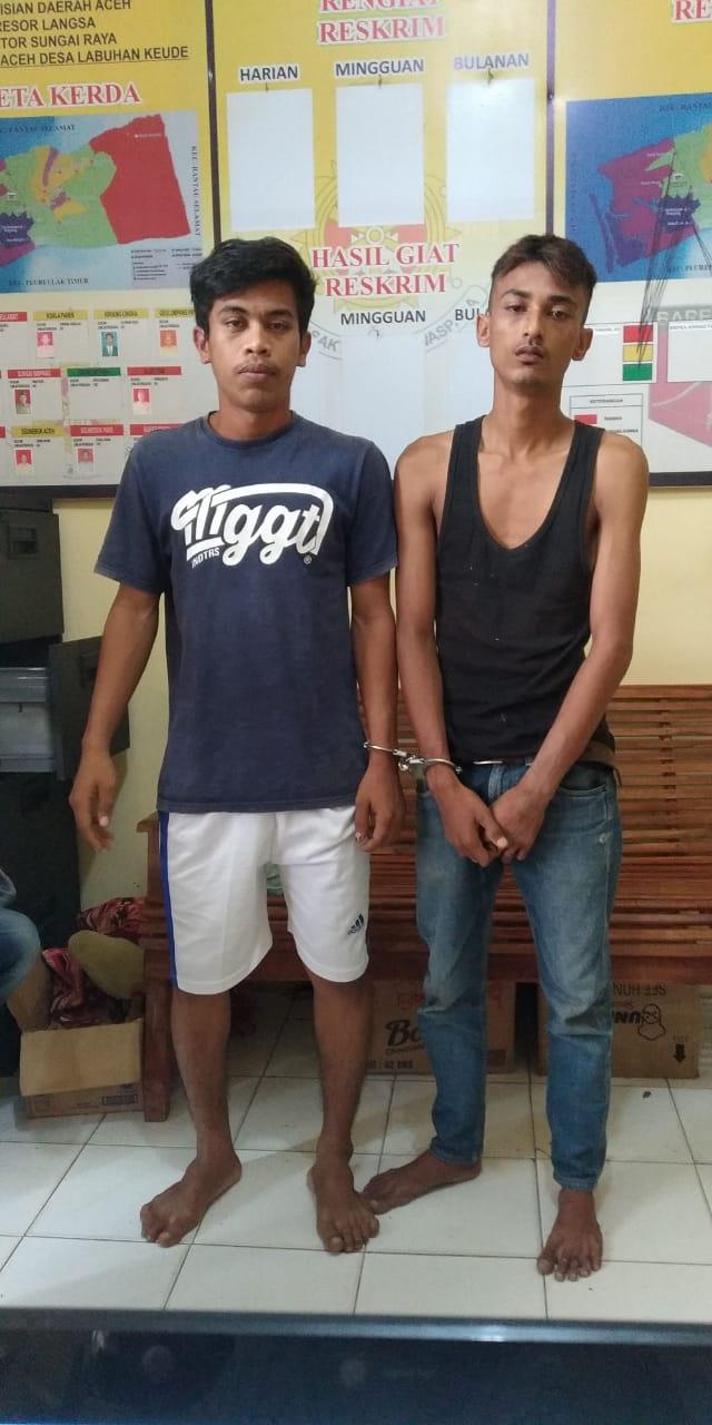 Bawa Sabu, 2 Pemuda Diamankan Polsek Sungai Raya