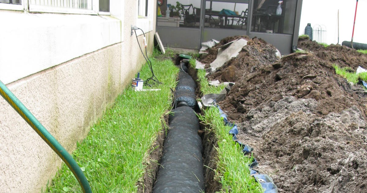 how to build a french drain next to house