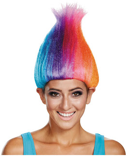 Women's Trolls - Rainbow Colored Adult Troll Wig - One-Size