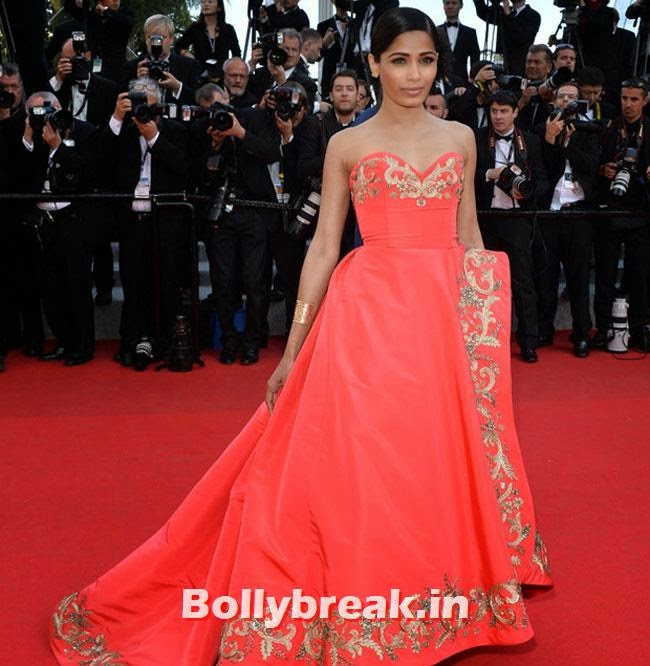 Freida Pinto, Bollywood Actresses Gowns at Cannes Film Festival 2014