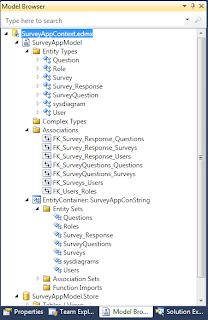 Survey Application Project Hieraurchy