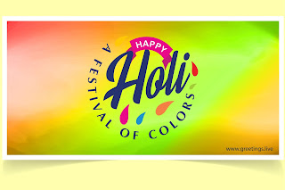festival of colors holi greetings new Images