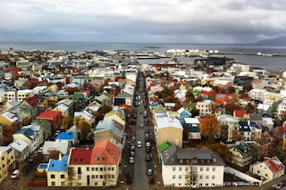 City view from Hallgrímskirkja tower