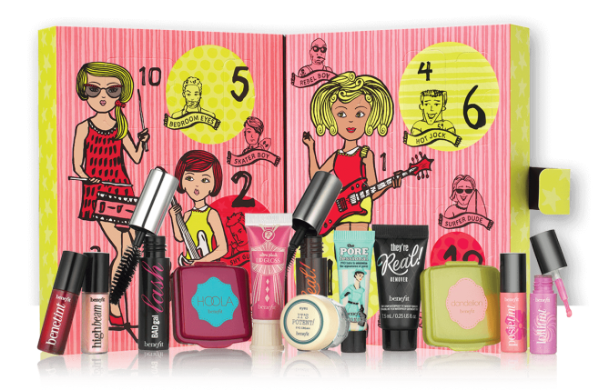 Benefit beauty Advent calendar 2016 calendrier de l'avent Adventskalender