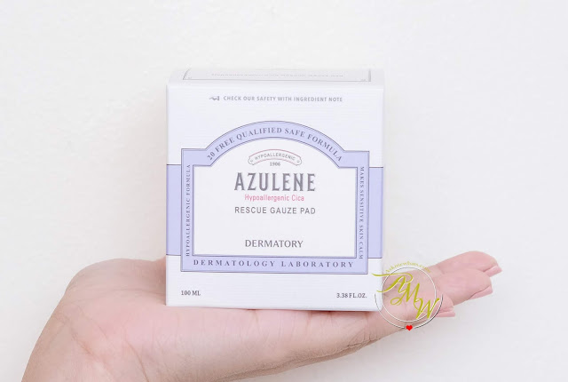 a photo of Dermatory Azulene Cica Rescue Gauze Pad Review By Nikki tiu of www.askmewhats.com