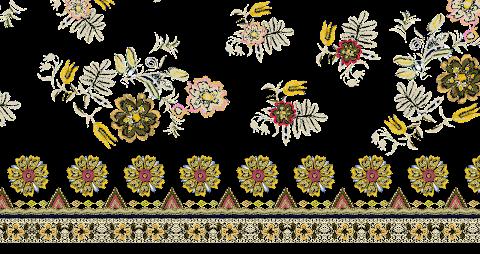 Embroidery Textile Design 2332