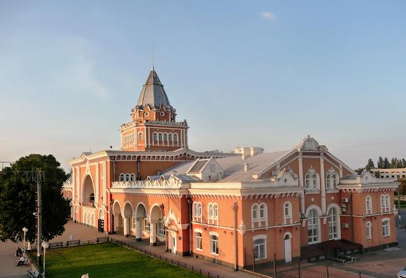 Чернигов. Железнодорожный вокзал. 1928-1948 г.г.