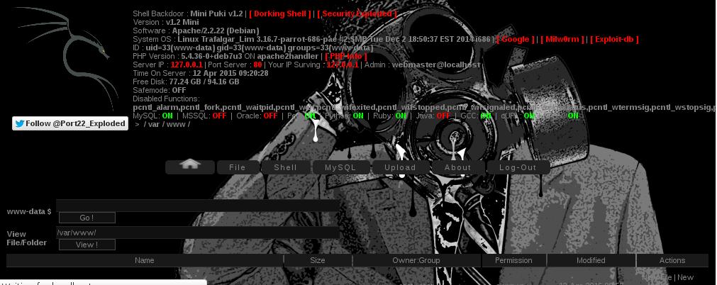 Mini Exploded v1 2 Shell Backdoor ~ MSupiani Archieves