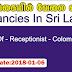 Sri Lanka Vacancies   Post Of - Receptionist - Colombo 04
