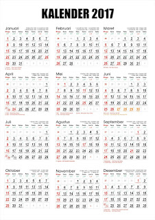 Download Kalender 2017 M/1438 H Corel & Pdf Gratis