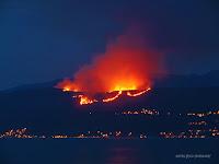 požar brdo Perun munje slike otok Brač Online