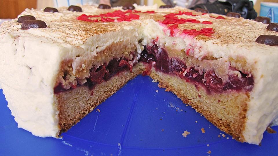 Cheesecake Rezepte Kasekuchen Mit Kirschen Und Streusel