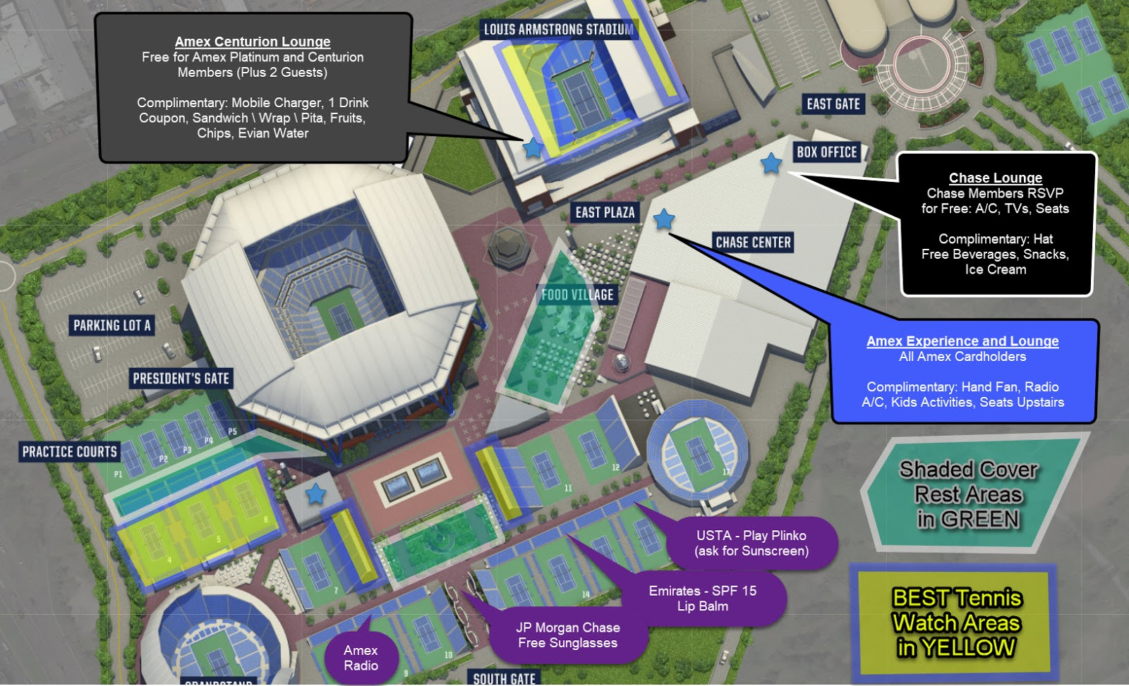 Us Open Tennis Location Map Tennis Bargains: Tennis Reviews, US Open Deals, USTA Promos: US