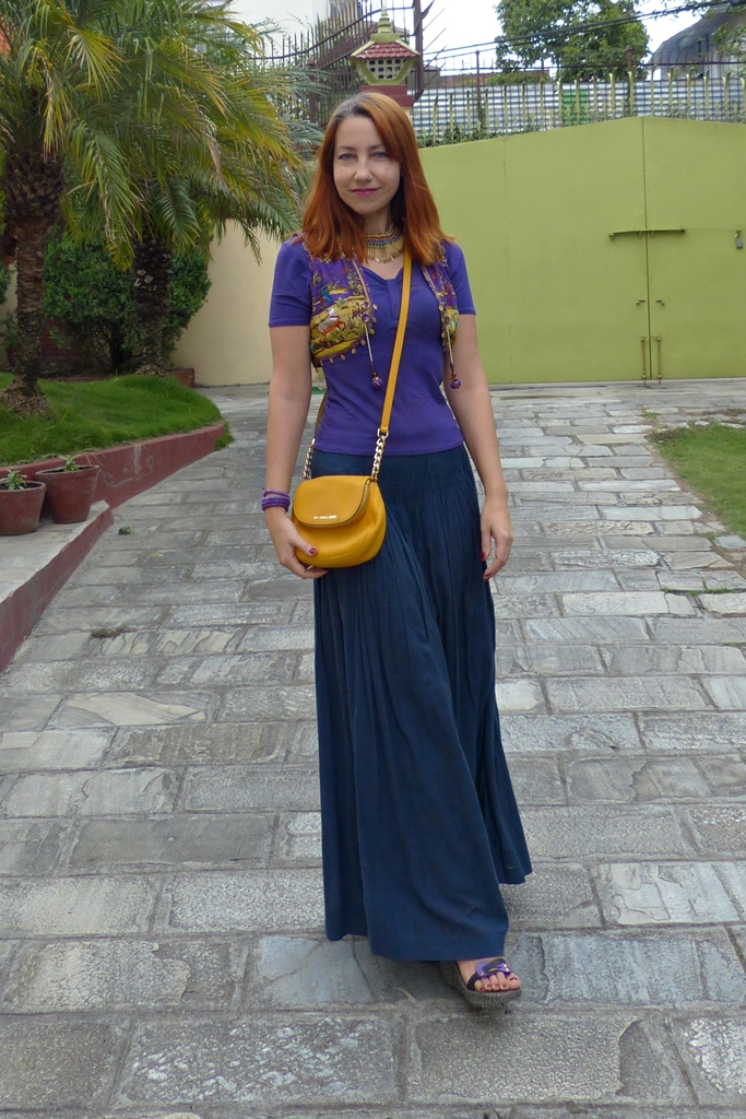 Boho style look with ethnic vest