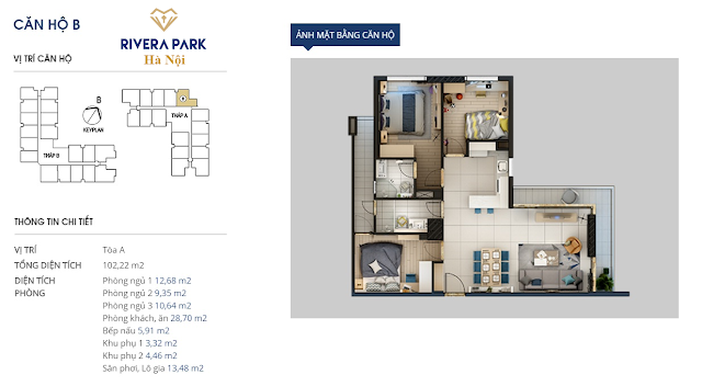 Chi tiết căn hộ B Rivera Park