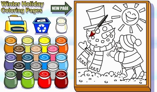 """""""Winter Holiday"""" (Colorear el invierno para Educación Infantil)"""