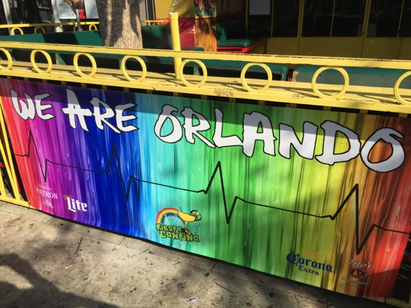 We Are Orlando LGBTQ banner Fiesta Cantina WEHO