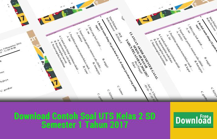 Contoh Soal UTS Kelas 2 SD Semester 1