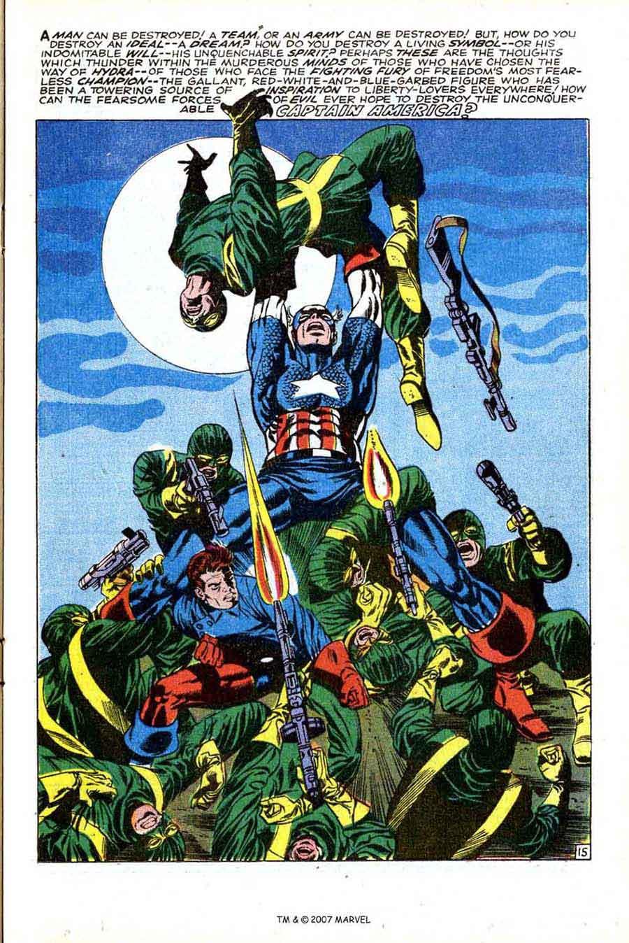 Captain America v1 #113 marvel comic book page art by Jim Steranko