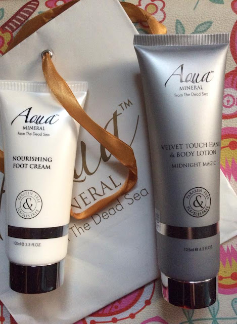 Aqua Mineral Nourishing Foot Cream and Velvet Touch Hand and Body Lotion