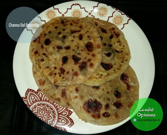 Channa Dal Parantha Indian Bread