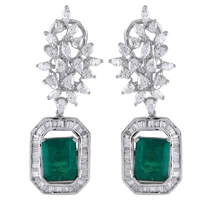 Multi-Diamond and Gemstone Danglers by Velvetcase.com
