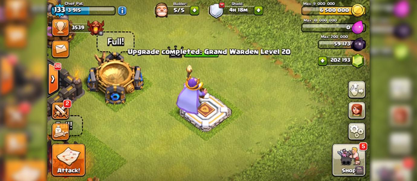 Terlanjur Kaya Orang Ini Buat Hero Grand Warden Level  Dengan Ribuan Gems
