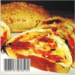 pão com tomate seco e provolone
