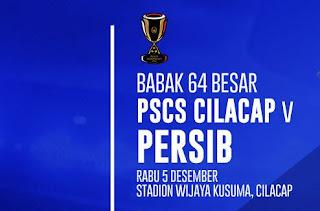 Jadwal Persib Bandung vs PSCS Cilacap - Babak 64 Besar Piala Indonesia 2018